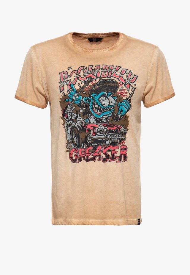 T-shirt imprimé - rostbraun
