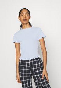 Monki - T-shirts print - blue light - 0
