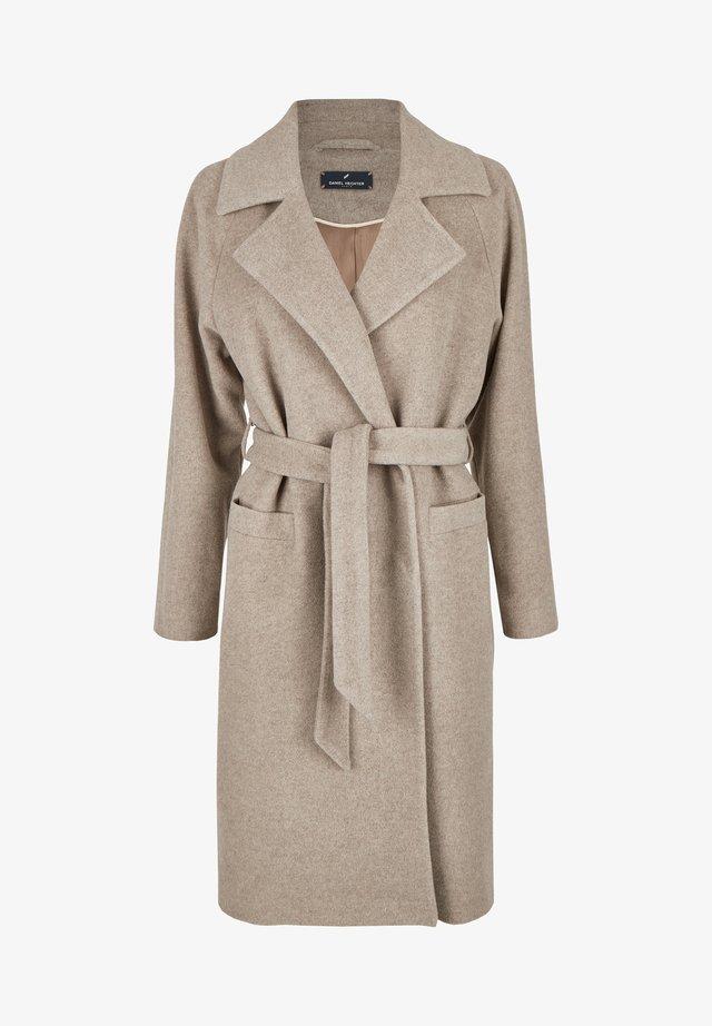 MIT BINDEGRTEL - Classic coat - taupe
