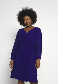 Lauren Ralph Lauren Woman - COOPER LONG SLEEVE DAY DRESS - Shift dress - cannes blue - 0