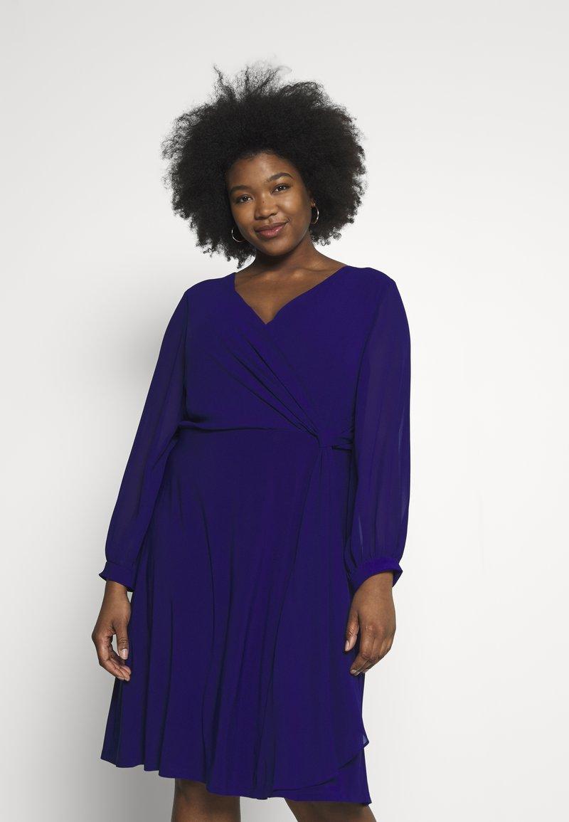 Lauren Ralph Lauren Woman - COOPER LONG SLEEVE DAY DRESS - Shift dress - cannes blue
