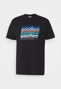 Woodbird - CREZ SHADOW TEE - Print T-shirt - black - 4