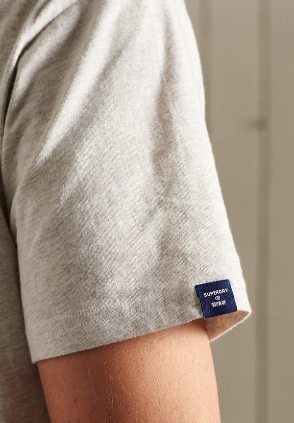 Superdry T-shirt z nadrukiem - grey marl/ciemnoszary Odzież Męska DTHM