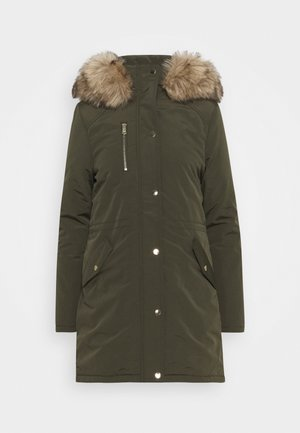 TRIM COAT - Winterjas - khaki