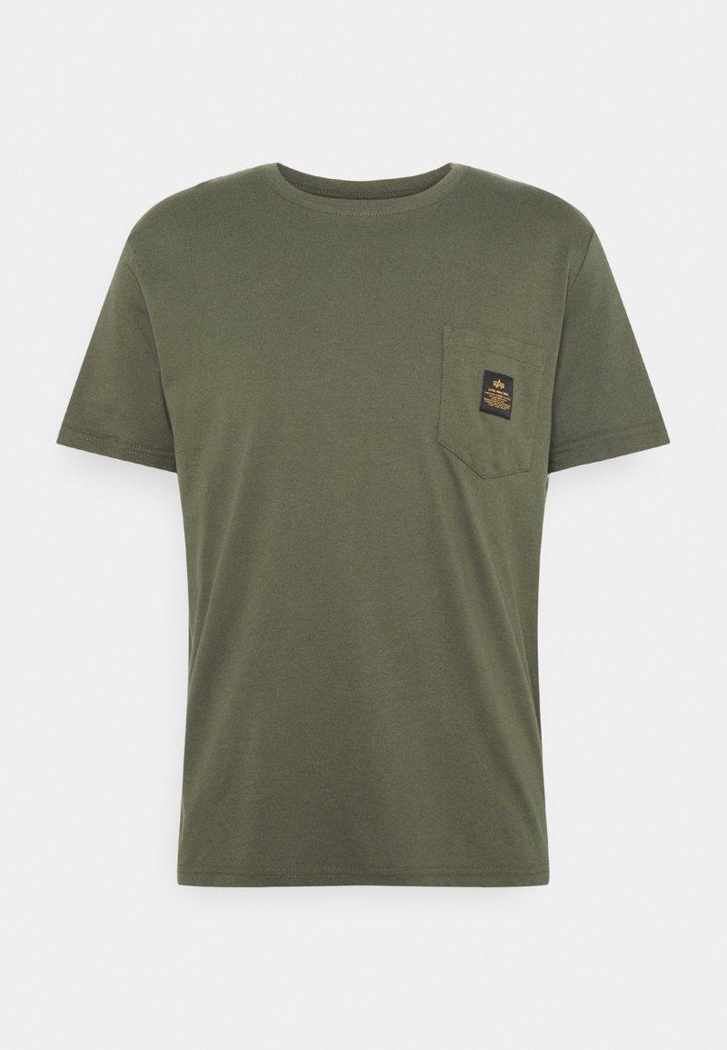 Alpha Industries - ALPHA POCKET  - Print T-shirt - dark olive