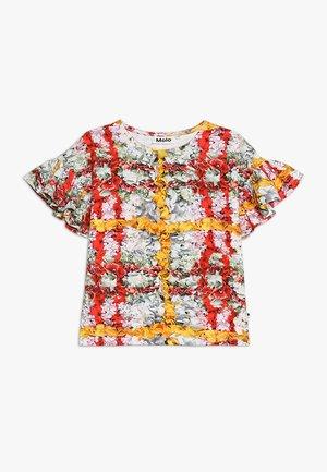 RAYAH - Print T-shirt - mottled light grey/red