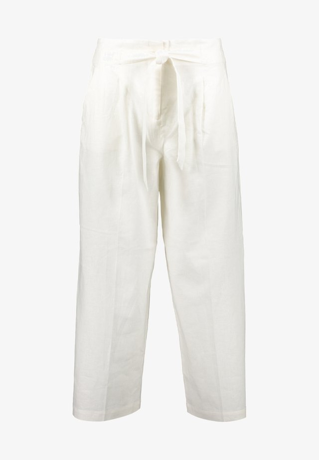 Trousers - wool white