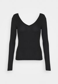 Vero Moda - VMJOSEPHINE VNECK - T-shirt à manches longues - black - 0