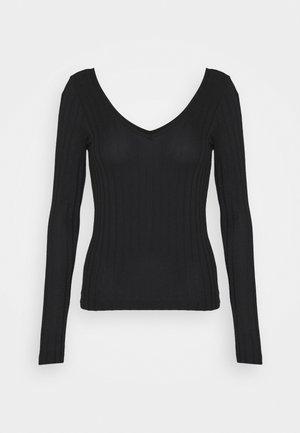 VMJOSEPHINE VNECK - T-shirt à manches longues - black