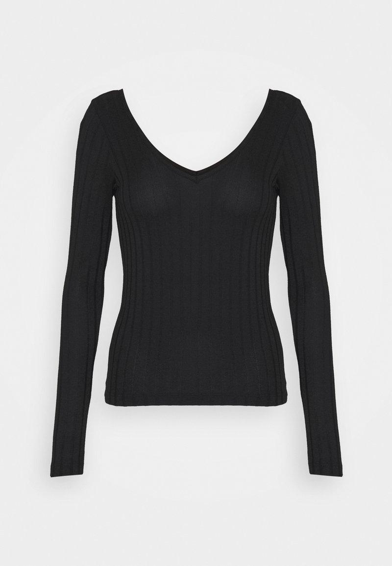 Vero Moda - VMJOSEPHINE VNECK - T-shirt à manches longues - black