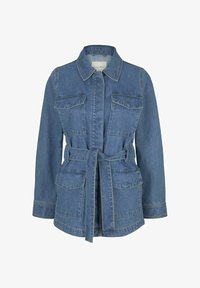 TOM TAILOR DENIM - Denim jacket - used mid stone blue denim - 5