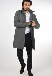 Solid - JAMPA - Classic coat - grey melange - 1