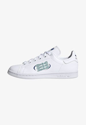 STAN SMITH UNISEX - Baskets basses - white/team royal blue/clear mint