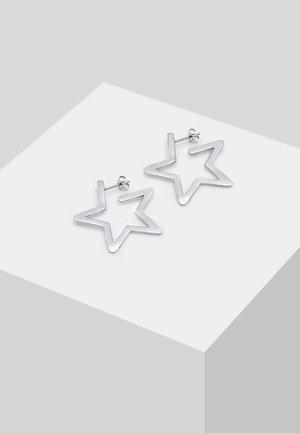 CREOLEN STERN ASTRO VERSPIELT - Korvakorut - silver-coloured