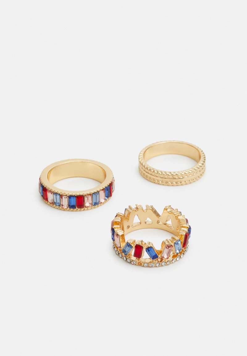 Pieces - PCFENNY 3 PACK - Ringar - gold-coloured