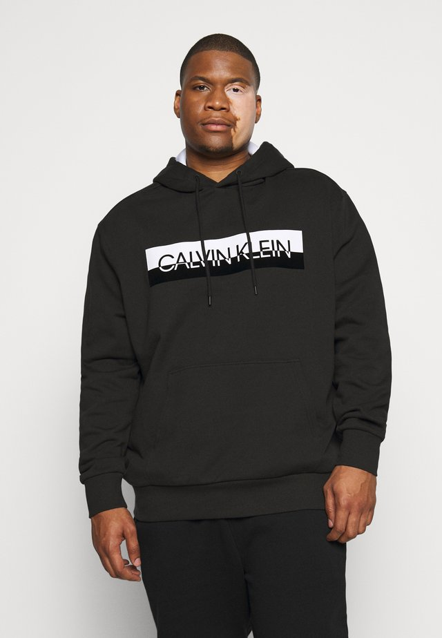 SPLIT LOGO HOODIE - Sweat à capuche - black