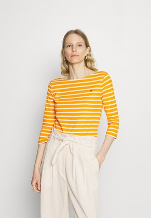 AISHA BOAT - Long sleeved top - yellow/white