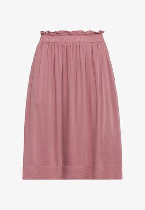 MIT GUMMIZUG - Pleated skirt - rosenquarz
