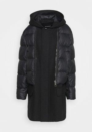 HYBRID PUFFER DUFFLE COAT - Zimní kabát - black