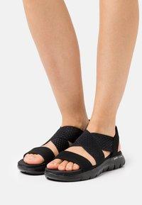 Skechers Sport - FLEX APPEAL 2.0 - Sandals - black gore - 0