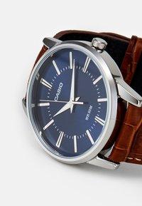 Casio - Watch - brown/silver-coloured - 2