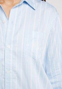 Lauren Ralph Lauren - CLASSIC HIS SHIRT SLEEPSHIRT - Noční košile - blue - 5