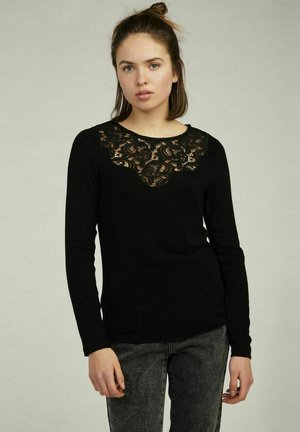 TEE-SHIRT-PENT180A - Blouse - black