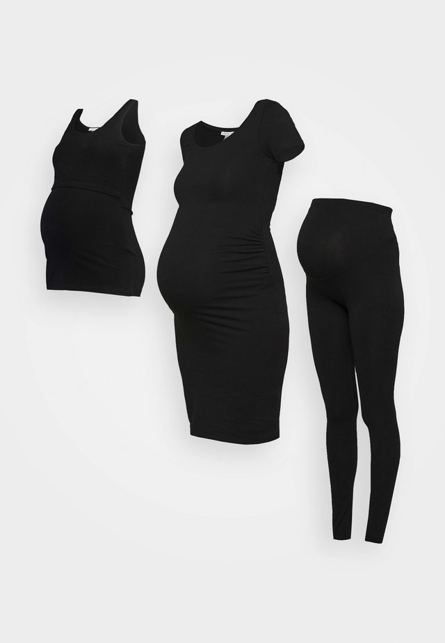 NURSING SET - Leggings - Trousers - Legíny - black