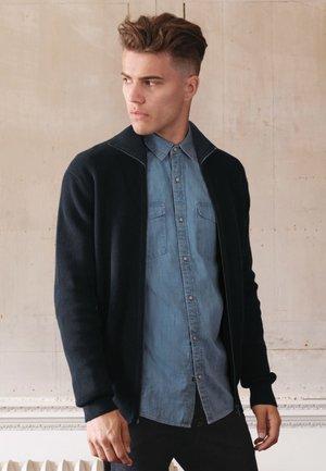 HIGH NECK - Fleece jumper - blue