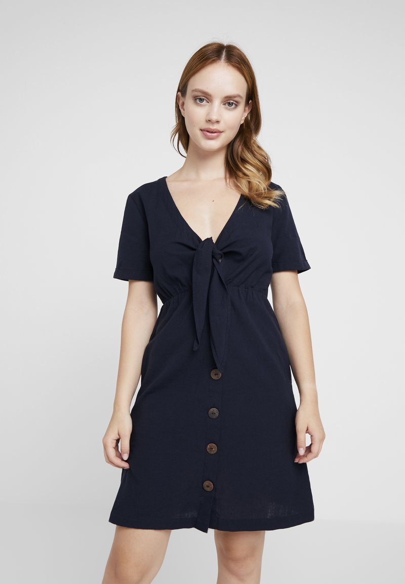 Object Petite - OBJBEATRIZ TIE DRES - Shirt dress - sky captain