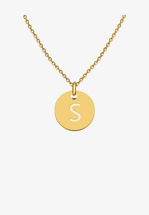BUCHSTABE S - Collana - gold