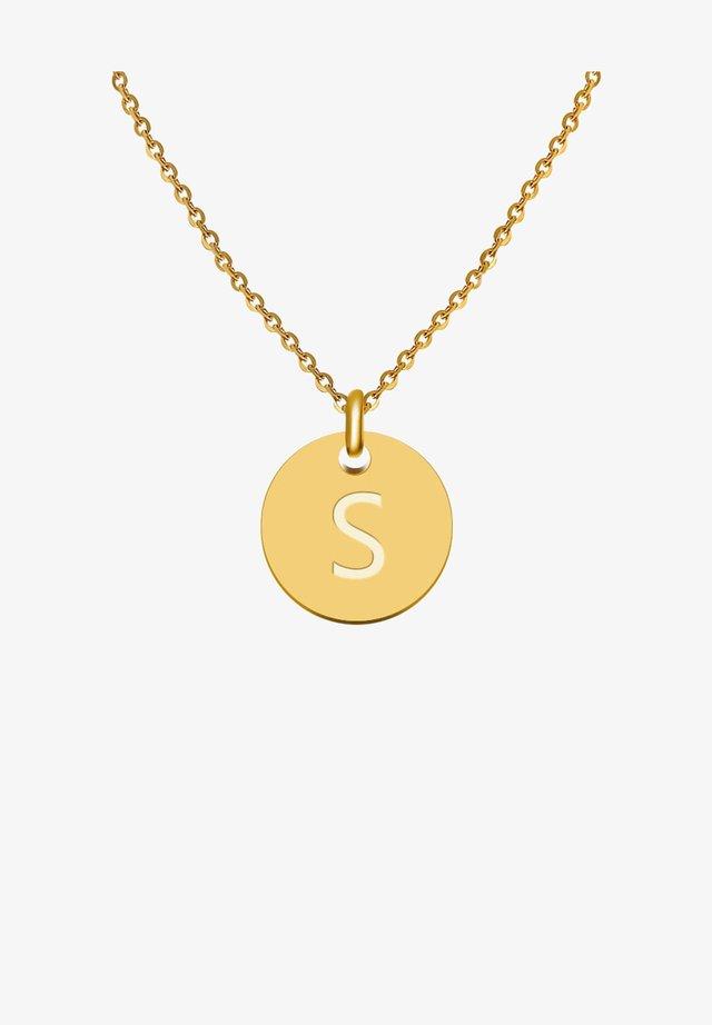 BUCHSTABE S - Collier - gold