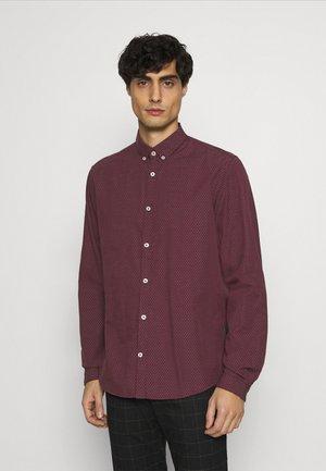REGULAR - Shirt - burgundy/blue/white