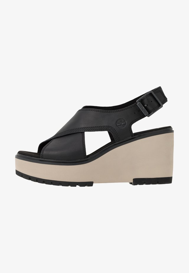 KORALYN CROSS BAND - Sandalias de tacón - black