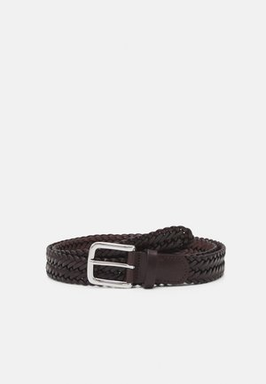 BELT UNISEX - Braided belt - brown