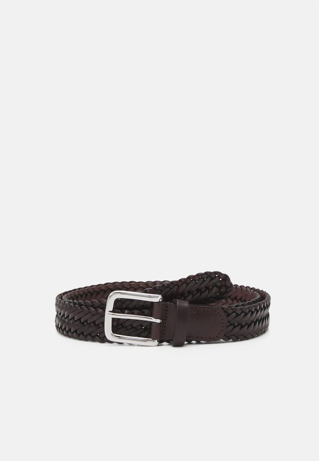 BELT UNISEX - Cintura intrecciata - brown