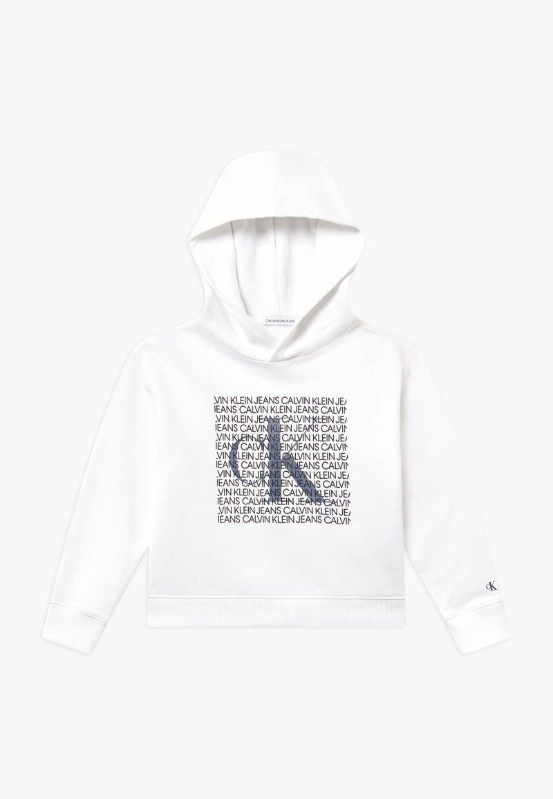 Calvin Klein Jeans - IRIDESCENT LOGO HOODIE - Hoodie - white