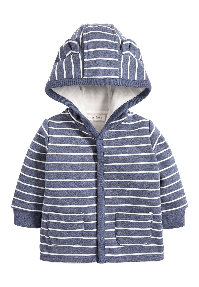 Next - BLUE COSY POPPER LIGHTWEIGHT JACKET (0MTHS-3YRS) - Zip-up hoodie - blue