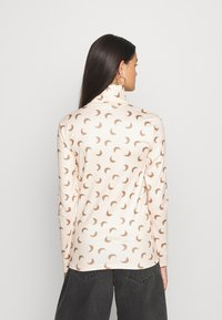 Pieces - PCNALA PRINT TURTLE NECK - Long sleeved top - nude/brown - 2