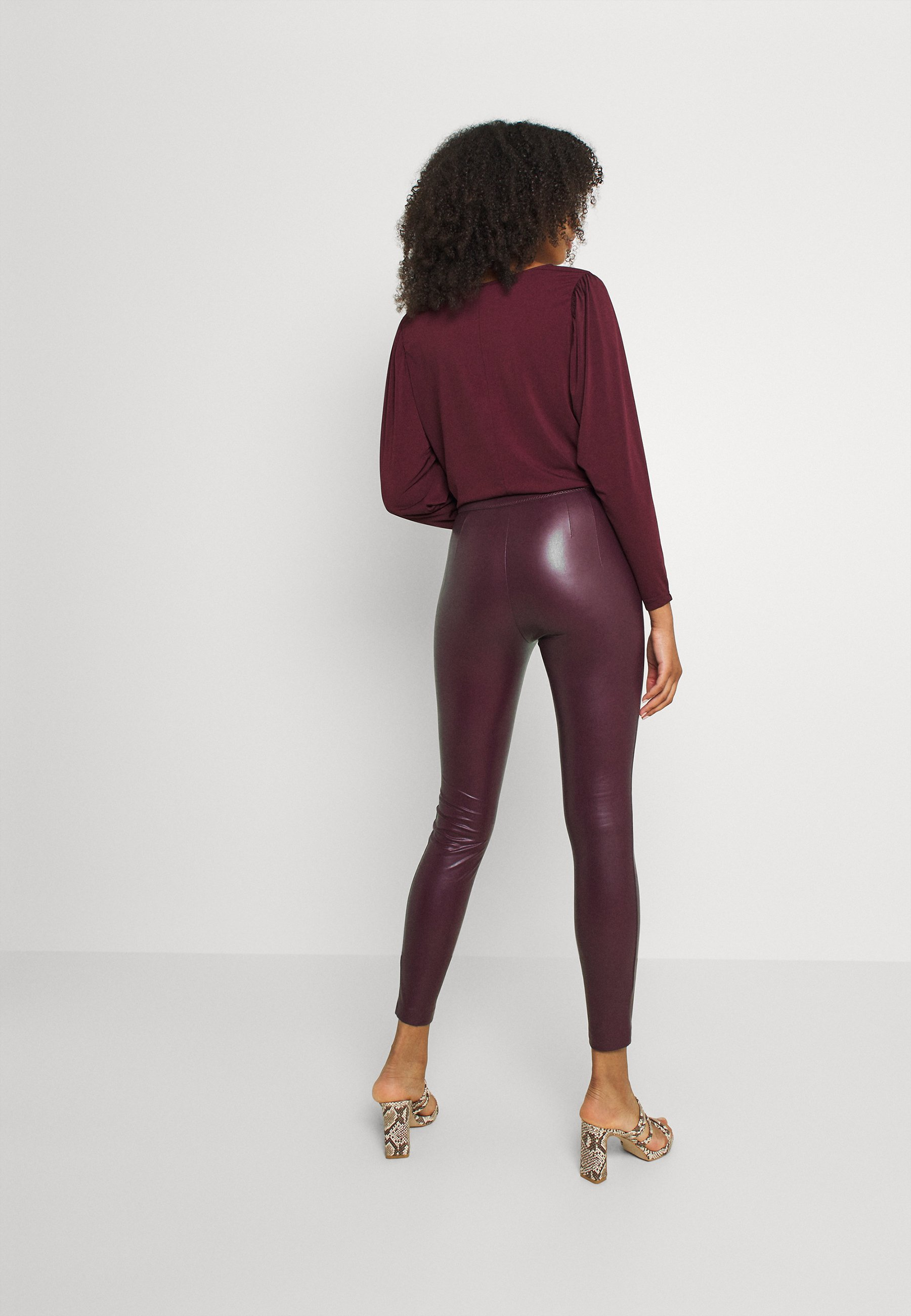 Women VIKISS COATED - Leggings - Trousers