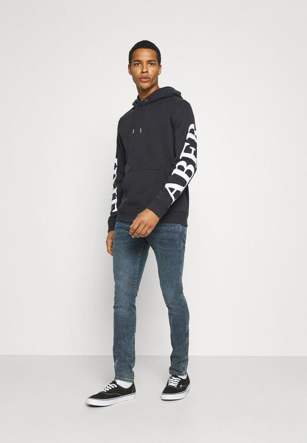 Abercrombie & Fitch SCALE PRINT LOGO - Bluza - black/czarny Odzież Męska NAQA