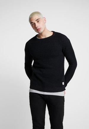JCOHARVARD CREW NECK - Stickad tröja - black