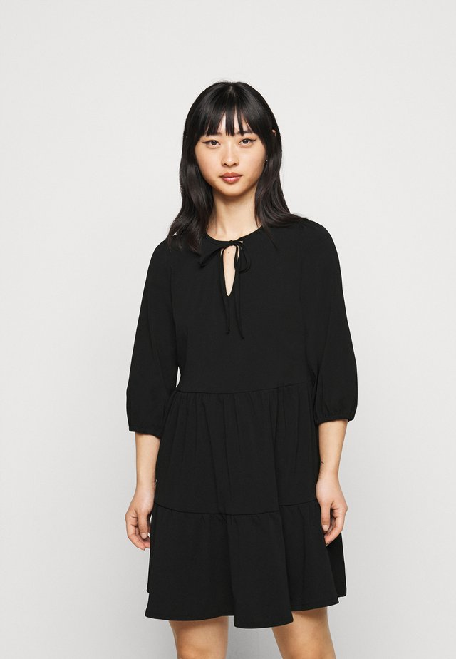 NMLIVE SHORT DRESS  - Day dress - black