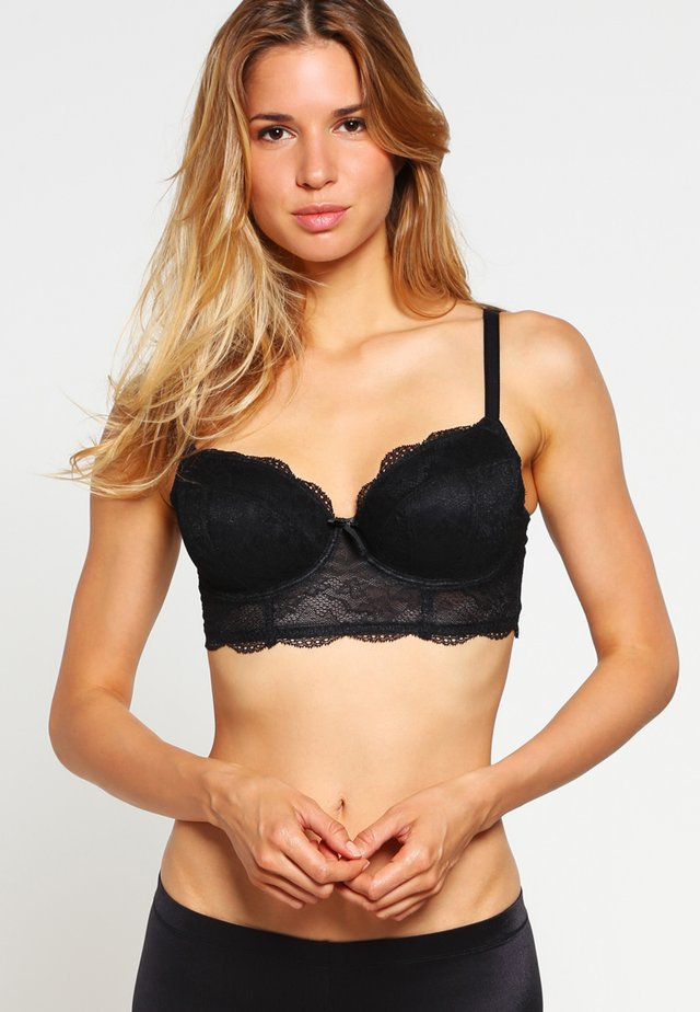 FANCIES LONGLINE - Reggiseno con ferretto - black