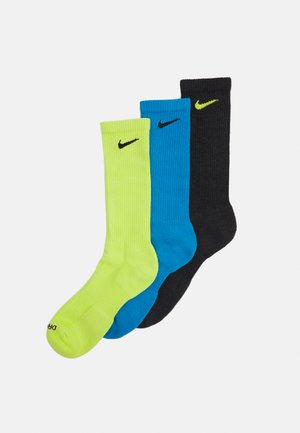 EVERYDAY PLUS CUSH CREW 3 PACK UNISEX - Sports socks - cyber)/laser blue/black heather