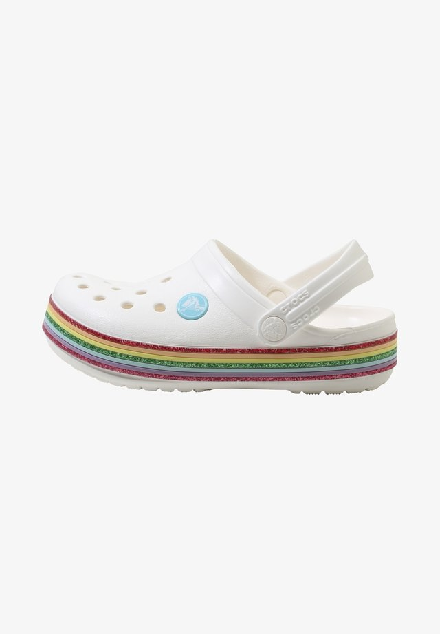 CROCBAND RAINBOW GLITTER  - Pool slides - white