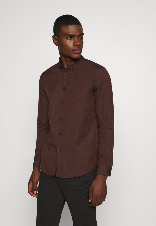 LIAM - Camisa - brown melange