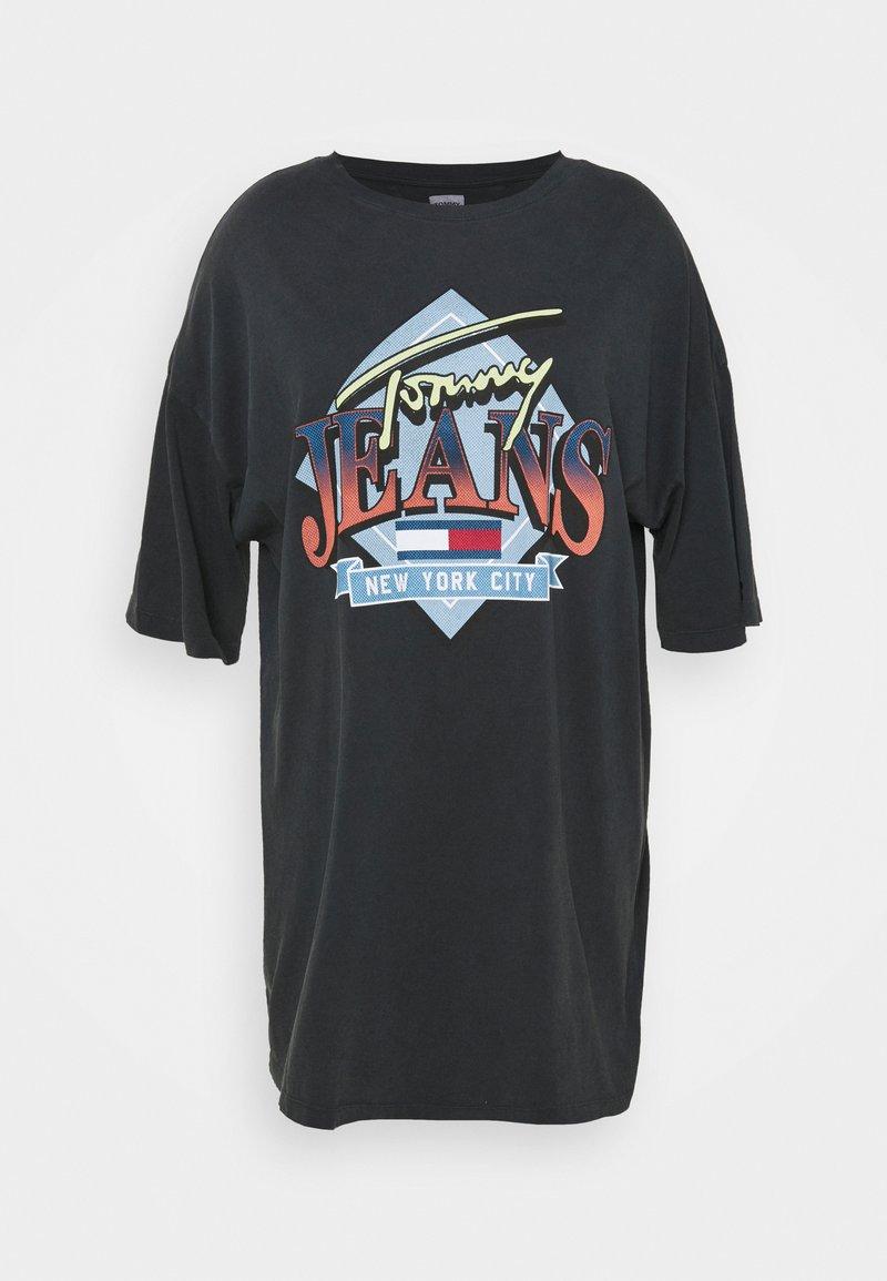 Tommy Jeans Curve - VINTAGE TEE DRESS - Jerseyjurk - black