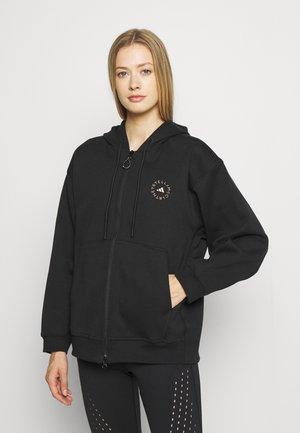 HOODADIDAS BY STELLA MCCARTNEY SC FULL ZIP HOOD TRAINING WORKOUT PRIMEGREEN HOODED TRACK TOP - Zip-up sweatshirt - black
