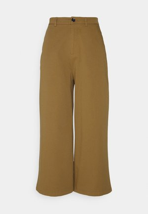 Wide cropped leg Chino - Tygbyxor - camel